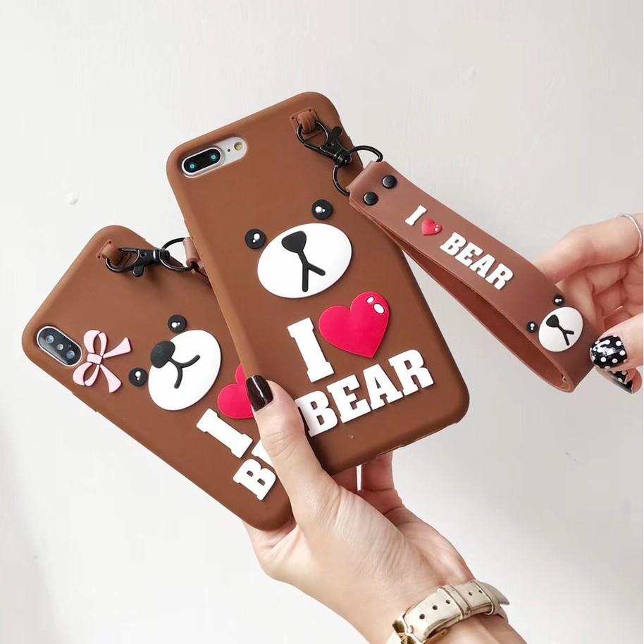 Love Bear Lovers of Phone Case VIVO Y66 Y67 Y69 Y71 A57 Silicone Cover Casing
