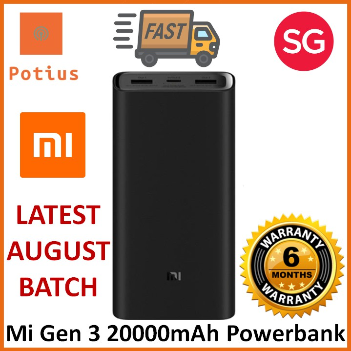 the best attitude 77ecf f837f XiaoMi 20000mAh Powerbank Gen 3 Support USB-C Two-Way 45W PD (2019)