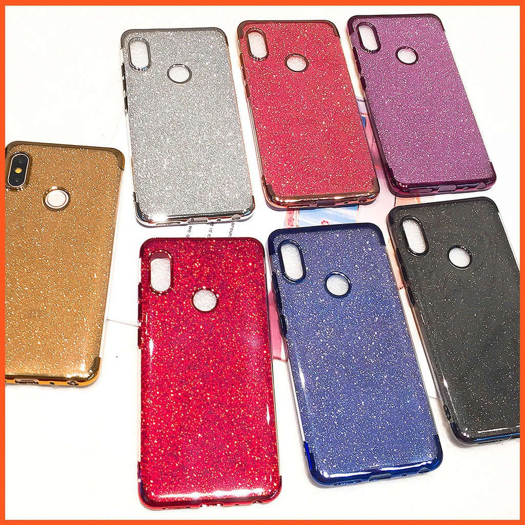 🔥 Glitter Bling Case XiaoMi RedMi S2 Note 5 AI Mi 8 Soft Plating TPU Casing