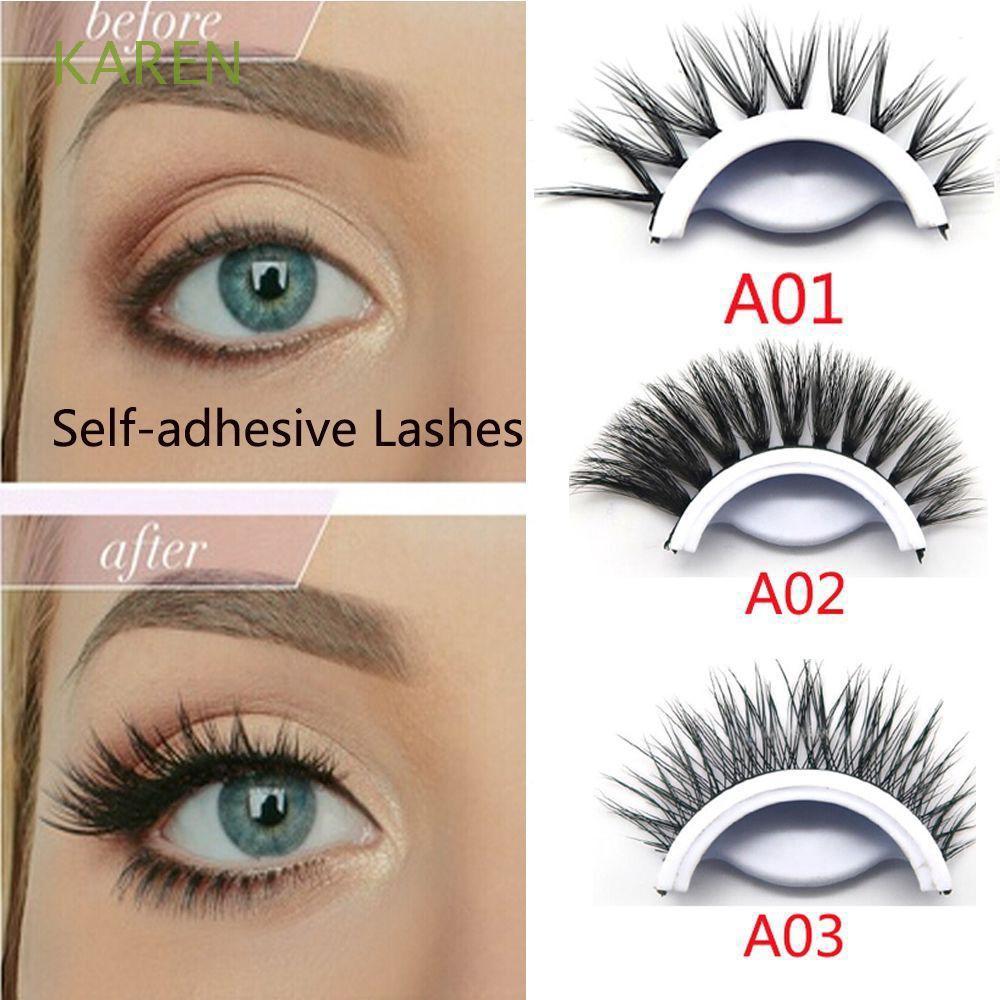 100% 3D Mink Hair Self-adhesive Eye Lashes False Eyelashes No Glue Required