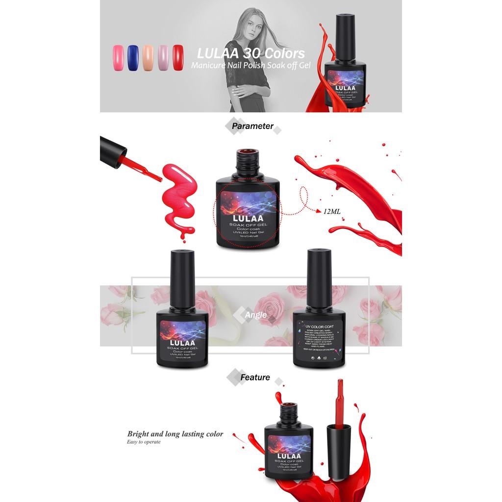 LULAA 12 Colors Finger Beauty Nail Polish Soak off Gel | Shopee ...