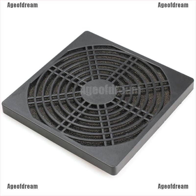 120mm x 2 PC Computer Case Fan Dust Filter Screen Dustproof Case Cover with M...