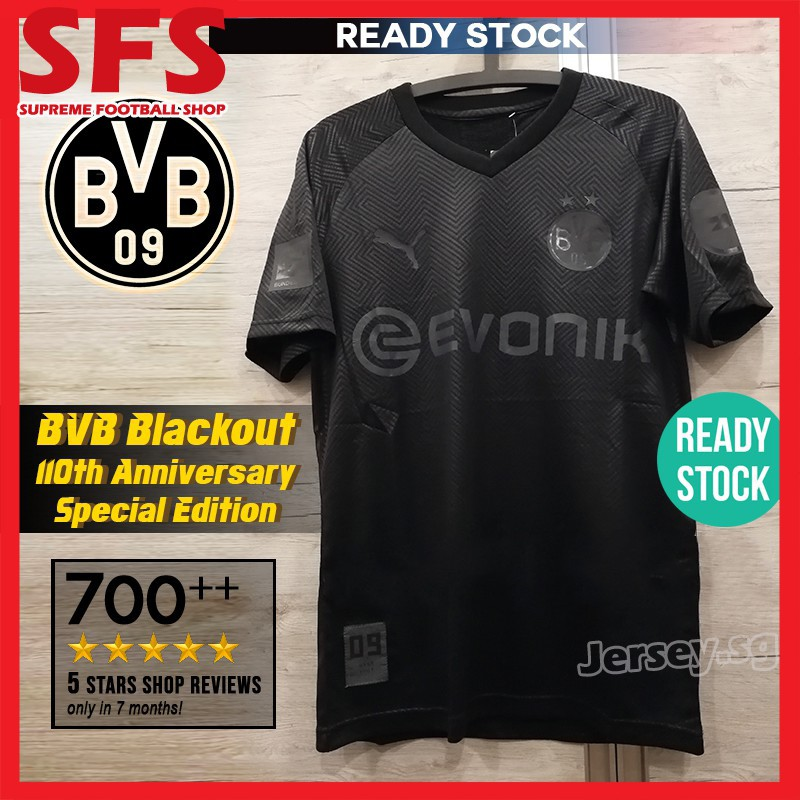 Sfs Top Quality Bvb Football Jersey Tshit Classy Borussia Dortumd 110th Anniversary Kit Coal And Steel Dortmund Shopee Singapore