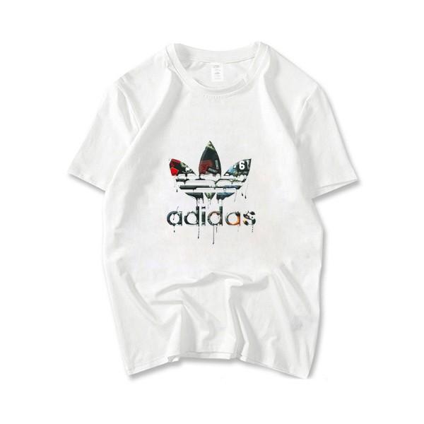 förboka officiell butik känsliga färger Fashion Man T-Shirt Summer Cotton Cloth Adidas Short Sleeve Round ...