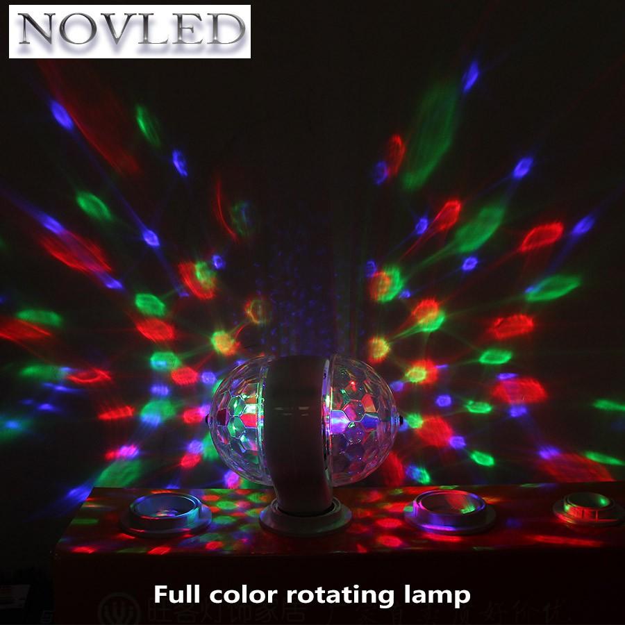 Auto Crystal Ball Rotating LED Light Bulb 3W E27 RGB Stage Disco Party Bu 2018