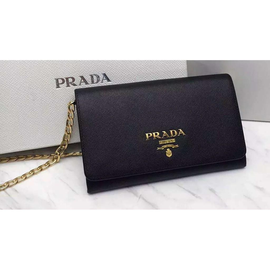 4d47212baa59 1ML506 Prada Saffiano Leather Zip Around Long Wallet !! 100% AUTHENTIC NEW    Shopee Singapore