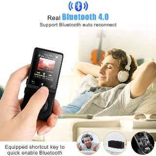 AGPTEK A01T 8GB Bluetooth Lossless MP3 Player with FM/Voice