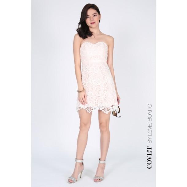 4e96b8987cc799 LoveBonito Covet Naenie Lace Bustier Size S   Shopee Singapore
