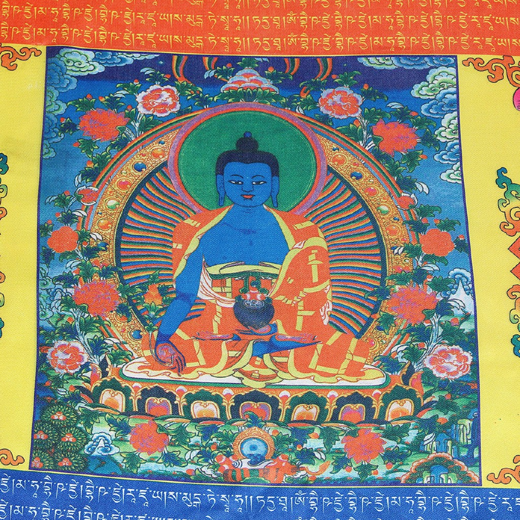 Buddhist Buddhism Polyester Flag Bunting 6m long with 20 Flags