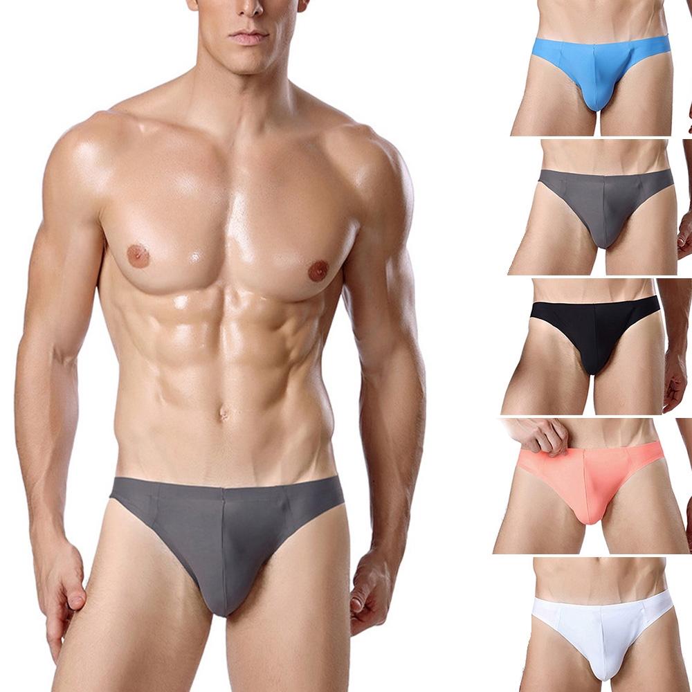 Low Waist Men Underwear Briefs Shorts Y-front Breathable Underpants Ice Silk