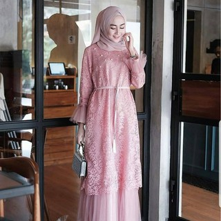 Humaira Gamis Syari Latest Latest Gamis 2020 Modern Gamis Brokat Women Long Dress Women Shopee Singapore