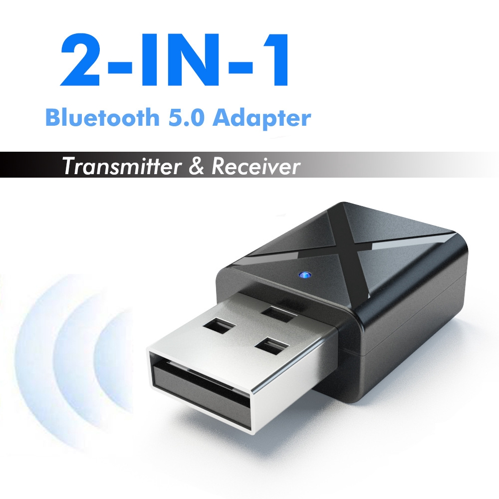 USB Bluetooth transmitter receiver two in one wireless audio adapter 5.0