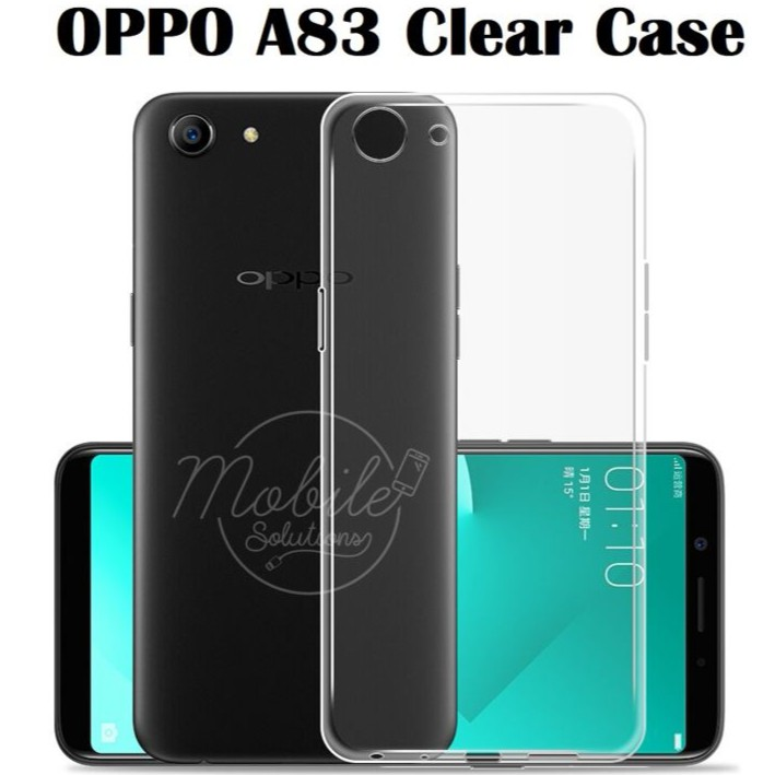 OPPO A83 Clear / Transparent TPU Case (Anti Water Marks) | Shopee Singapore