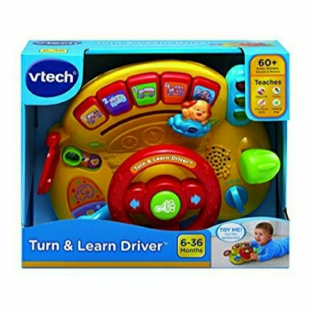 Steering Wheel Educational Learning Toy VTech Turn and Learn Driver Teaching Aid
