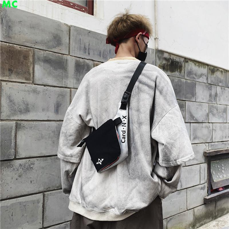 Tenacitee Living In New York with Alabama Roots Grey Brushed Canvas Messenger Bag