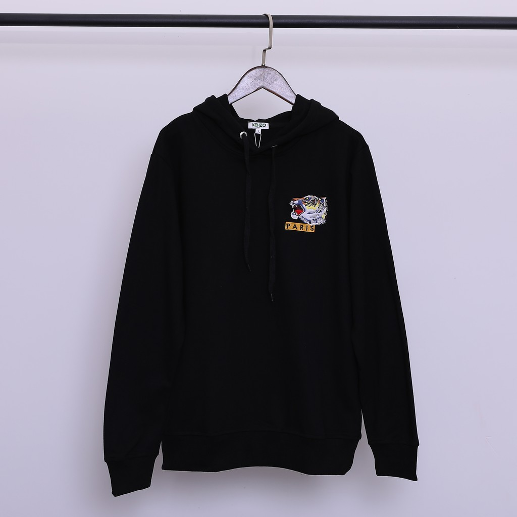 56b1717a Luluma Kenzo front classic small embroidery logo behind the clouds tiger  Harajuku style hoodies