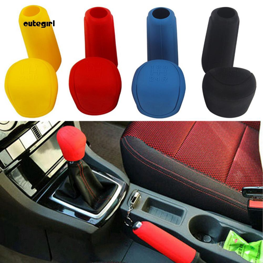 Livecity Car Styling Handbrake Grips Interior Shift Collar Silicone Gear Knob Cover Tool