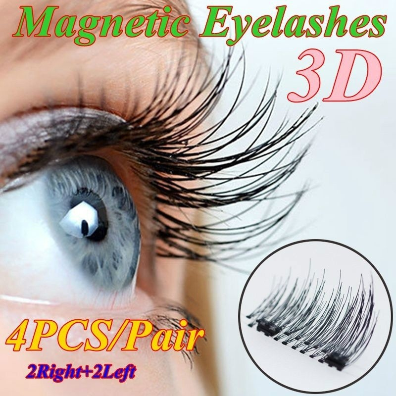 bd300a2bd5f 3D False Eyelashes Magnetic Eyelashes No Glue Needed Cosmetics Eye | Shopee  Singapore
