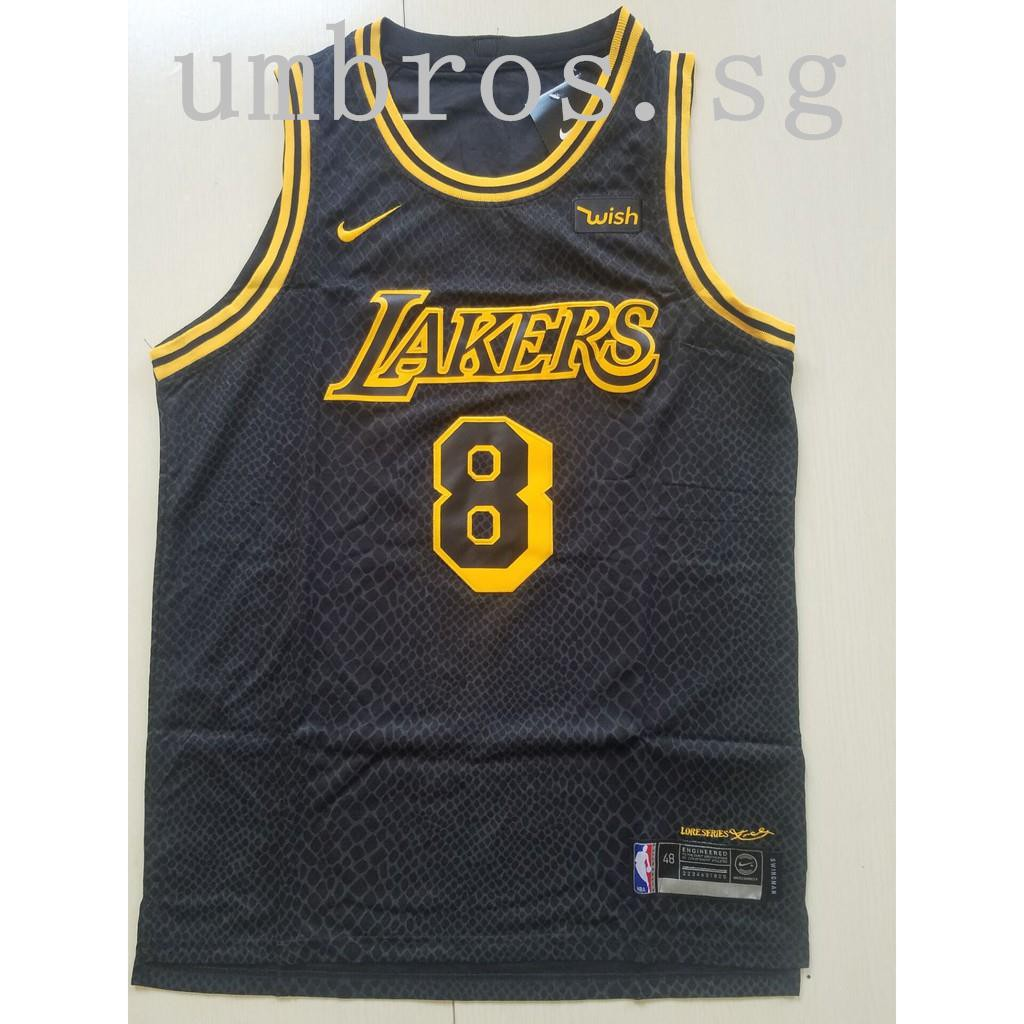 b8b66f724 Nice Nike Lakers  8 Kobe Bryant Gold NBA Swingman
