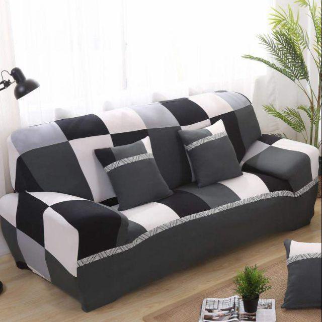 1 2 3 4 Seater Black White Sofa Cover