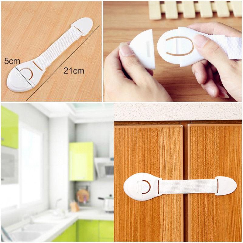 1-10x Child Children Baby Kids Drawer Door Cabinet Cupboard Toddler Safety Locks