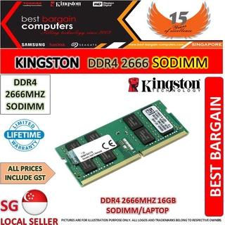 KINGSTON DDR4 2666 SODIMM 16GB FOR LAPTOP   Shopee Singapore