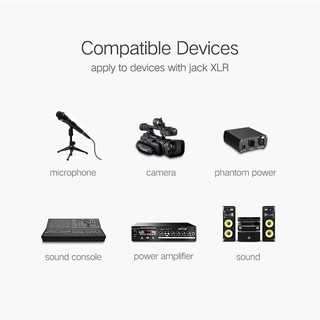 UGREEN Original XLR Cable Microphone Audio Sound Cannon Aux