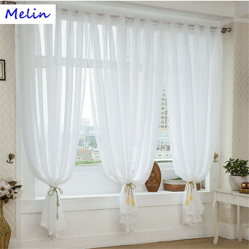 Tulle For Living Room Curtain Valance