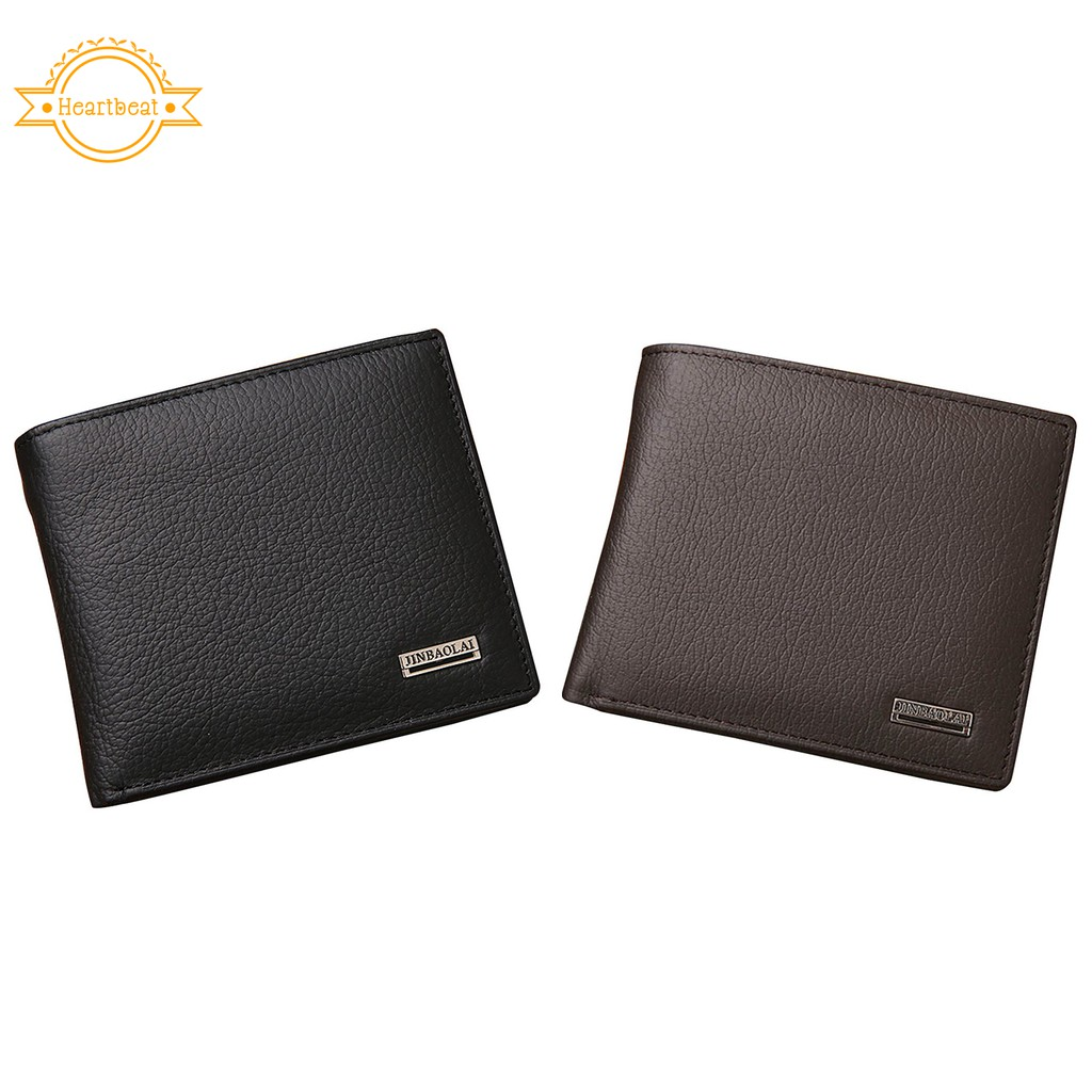 BULLCAPTAIN Men Fashion Genuine Leather Wallets Light Card Holders Mens | Shopee Singapore