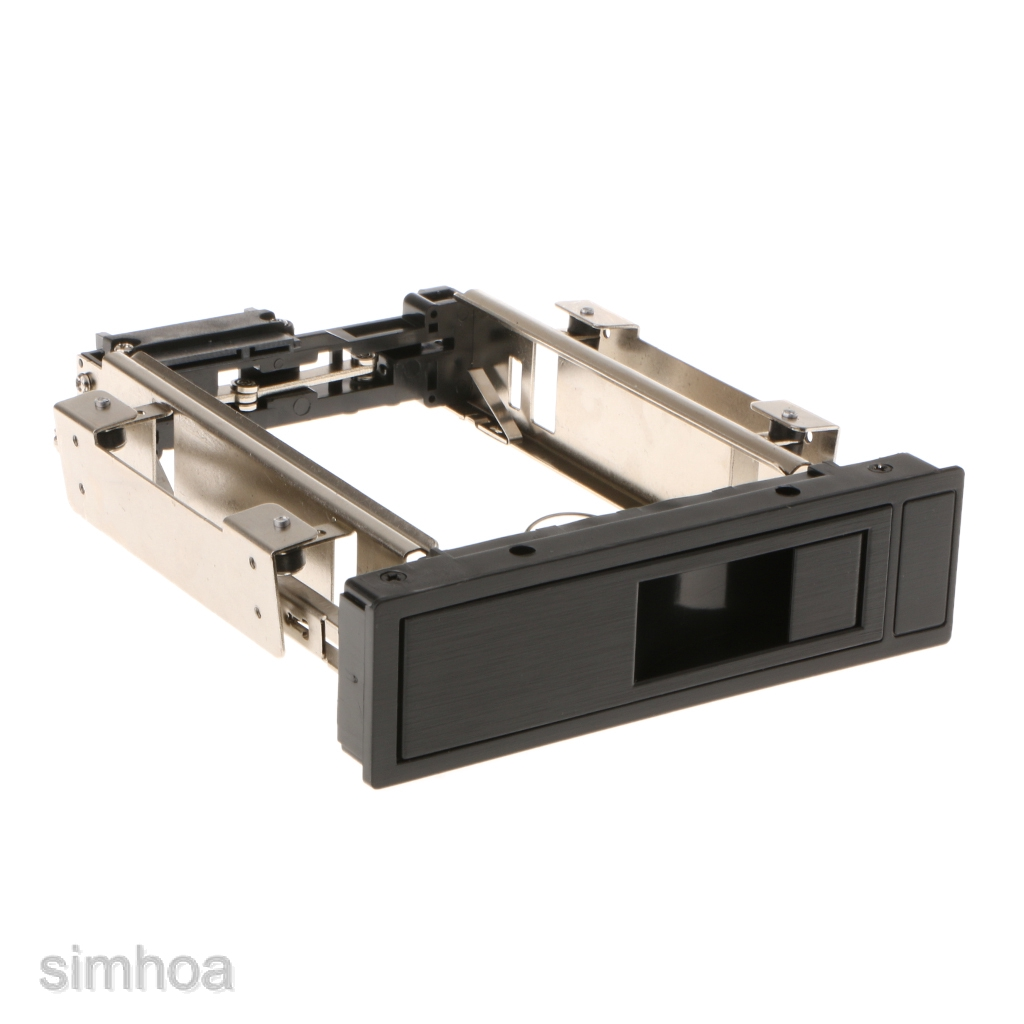 "Metal Internal Enclosure Mobile Rack Trayless For 3.5/"" SATA HDD Hard Drive#2"