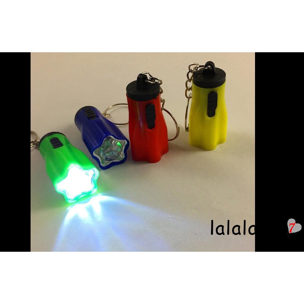 3-In-1 Keychain LED light Flashlight Compass Whistle Mini durable Plastic Torch!