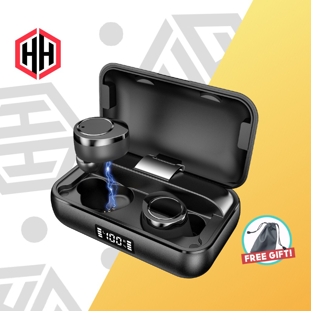 Hh X Pro Ultra Deep Bass True Wireless Earbuds With Mic Bluetooth 5 0 Earphone Earpiece Headphone Headset 5000mah Shopee Singapore