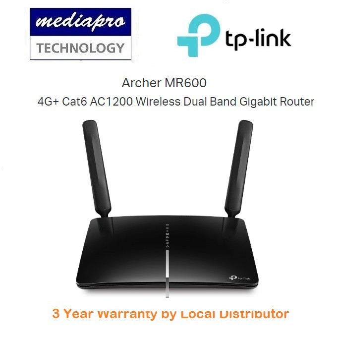TP-Link Archer MR600 4G+ Cat6 AC1200 Wireless Dual Band Gigabit Router - 3  Year Local Distributor Warranty