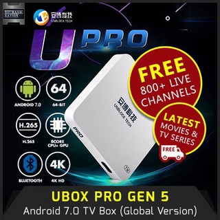 UNBLOCK TV BOX UBOX PRO2 Free Channels Gen 6 Singapore