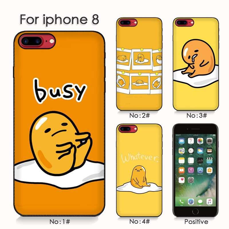 separation shoes f9d00 8c5b1 cute lovely gudetama lazy egg Iphone 6 6plus 7 xs xs max Soft Phone Case