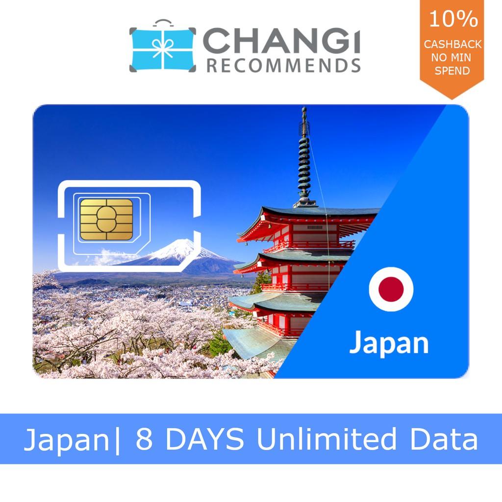 Japan 8 Days Unlimited Data SIM Card
