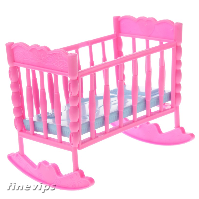 1pc Bedroom Furniture Mini Plastic Bed for  Little Sister Krissy Doll SP