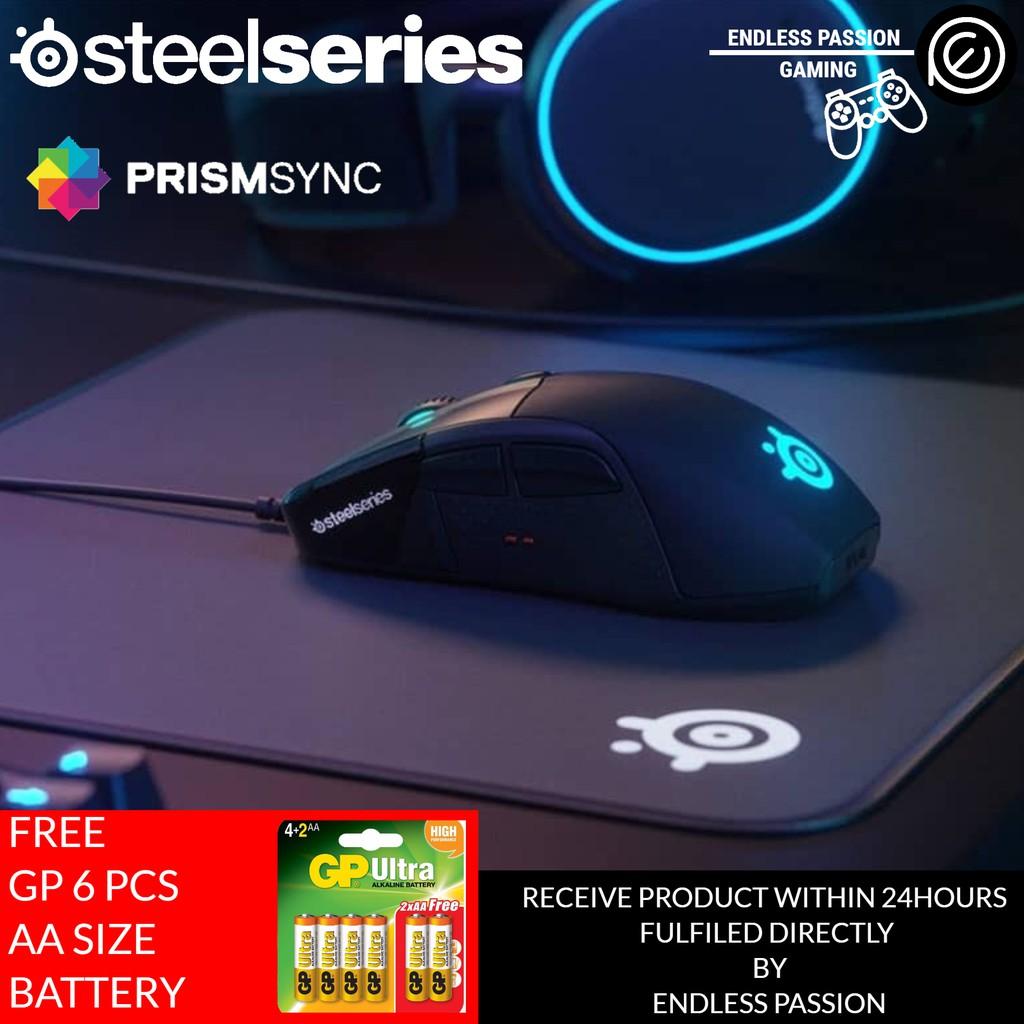 16,000 CPI TrueMove3 Optical Sensor OLED Display RGB Lighting SteelSeries Rival 710 Gaming Mouse Tactile Alerts