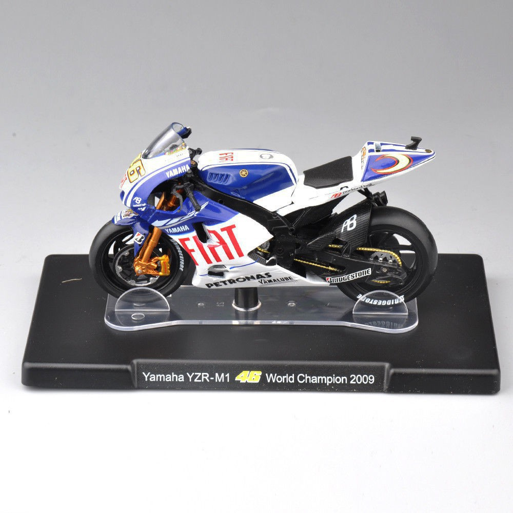 1:18 VALENTINO ROSSI Yamaha YZR-M1 46# Estoril 2009 Motorcycle Model Collection   Shopee Singapore