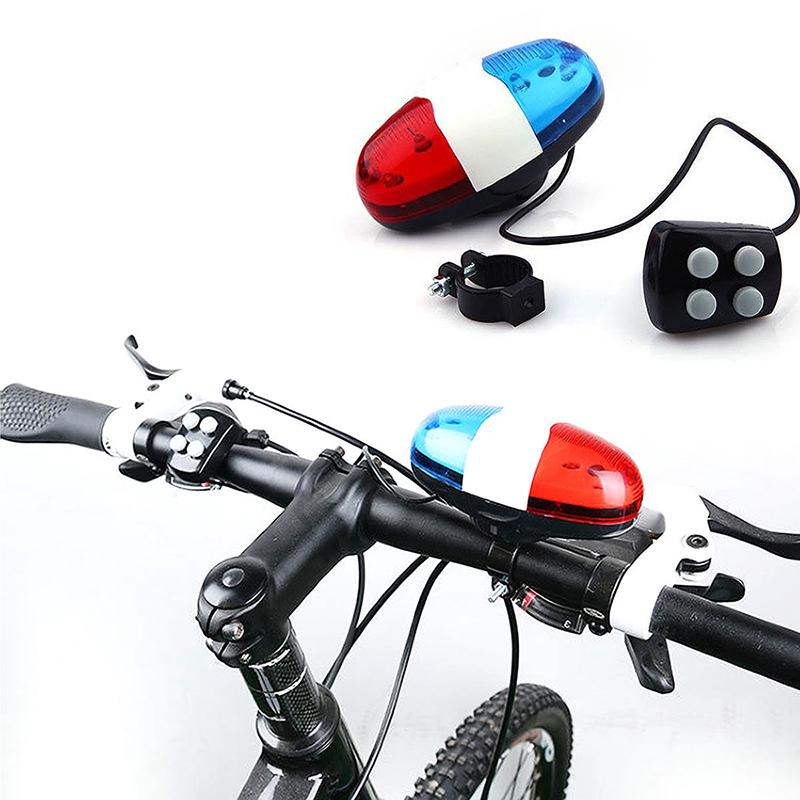 6 Bike Bicycle Police LED Light+4 Loud Siren Sound Trumpet