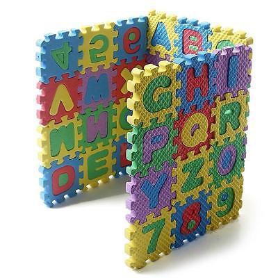 36Pcs Mini Size Puzzle Alphabet A-Z Letters Numeral Foam Mat Kid Educational Toy