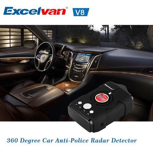 360 Degree Car Speed Police Safe Radar Detector English Russian Voice Alert