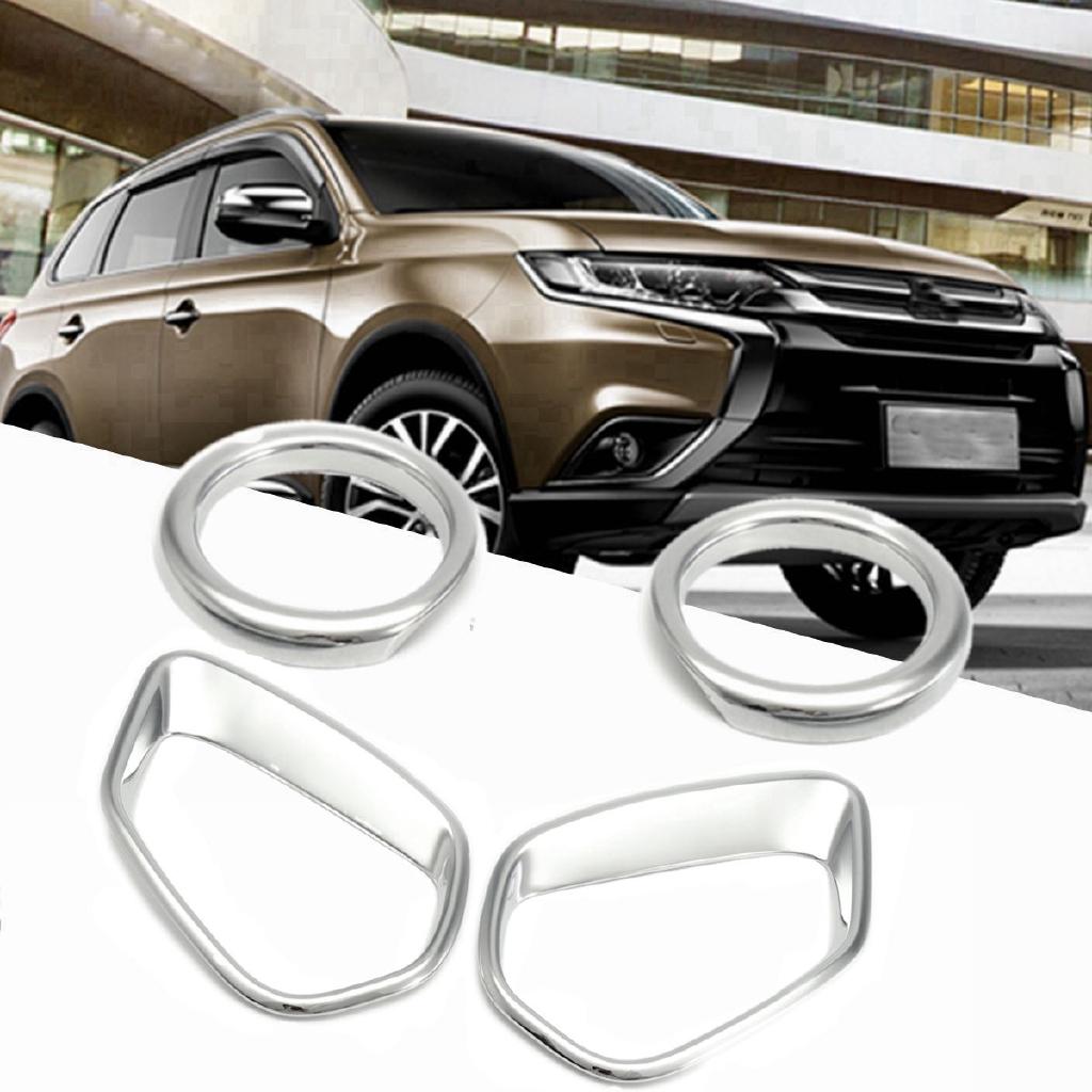 Chrome Front Fog Light Cover Trim 4pcs for Mitsubishi ASX Outlander Sport 16-18