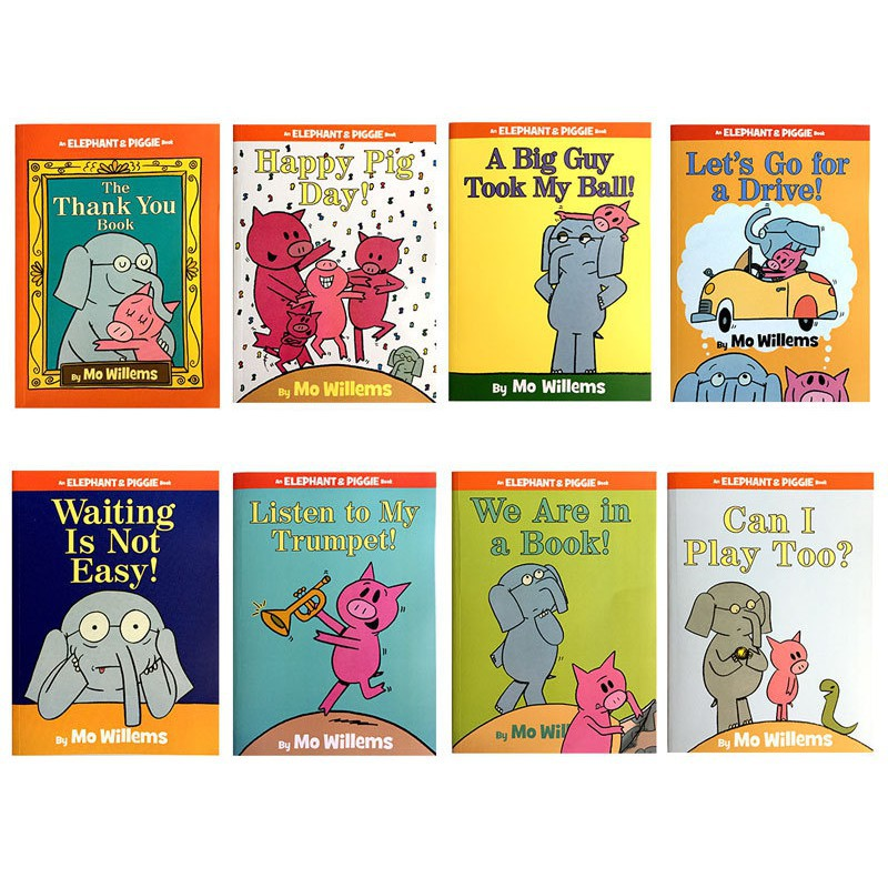 An elephant and piggie book Children's EQ education English