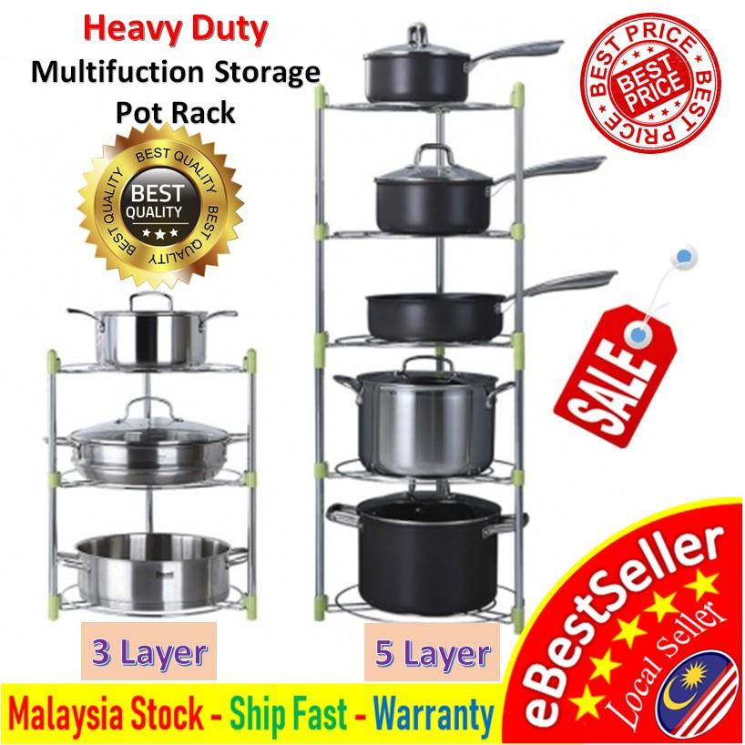 Kitchen Pans Pots Storage Rack