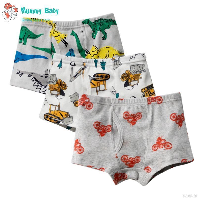 3Pcs Boy Underwear  Cotton Children Panties Shorts Kids Accessories
