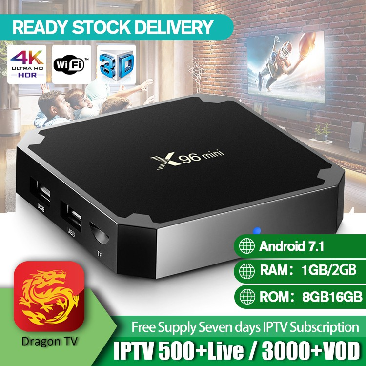 X96 Mini Smart TV Box Android 7 1 Amlogic 2GB16GB 4K Multimedia Player UK  Plug
