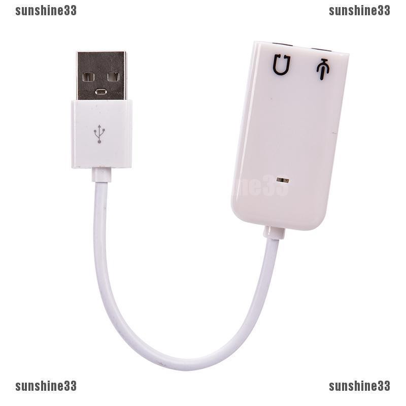 USB to 3.5mm Headphone /&Microphone Jack Audio Adapter External Stereo Sound Card