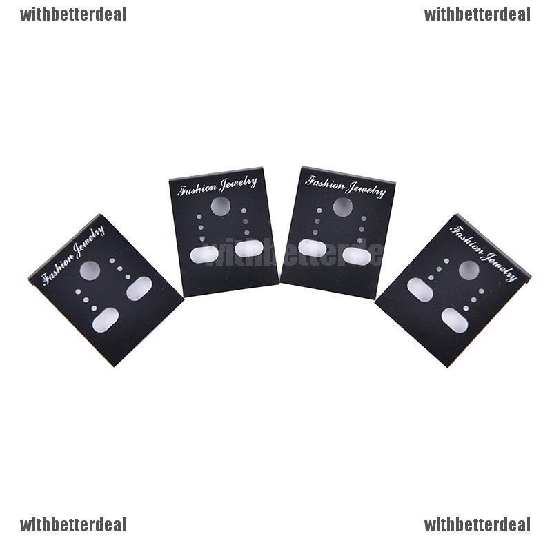 New 100pcs Professional Type Plastic Earring Ear Studs Holder Display  Cards HK