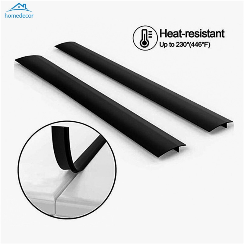 1Pc Flexible Silicone Stove Counter Gap Fill Cover Wide Long Seal Kitchen Tool